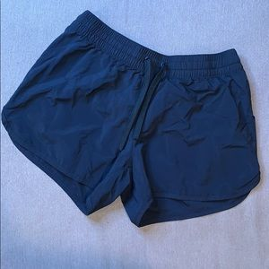 Black Nylon Columbia Shorts